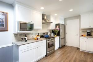 Brown Transitional Kitchen