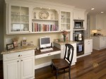 Traditional Kitchen Home Office